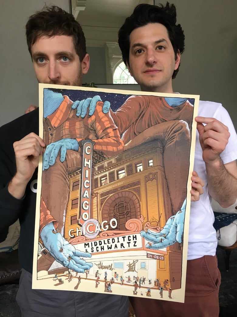 Image of SIGNED - Middleditch and Schwartz - Chicago Theatre