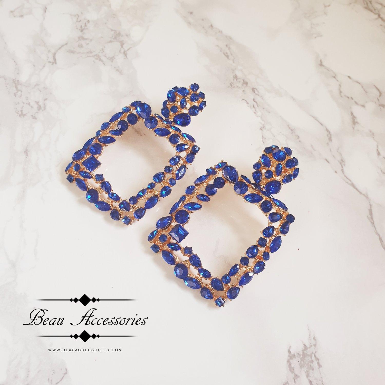Image of Blue Crystal Earrings