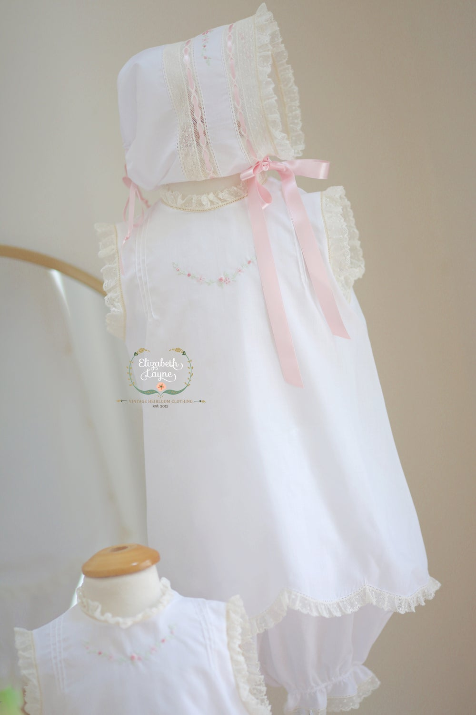 Image of Brierley Diaper Set & Bonnet