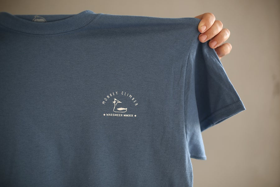 Image of Monkey Climber Waesmeer 2019 social shirt I Solar Blue (ltd. to 35!)