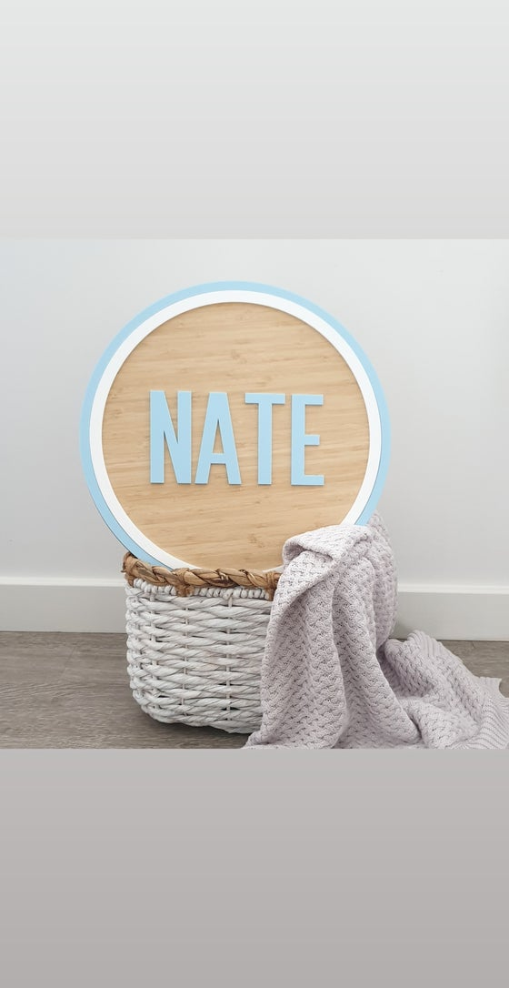 Image of Bamboo name plaque - boys