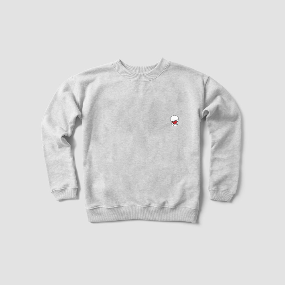 Image of ANDIE BEAR crew neck sweater (ash grey)