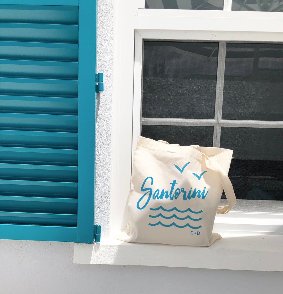 Image of Customizable Greece Beach Tote Bag