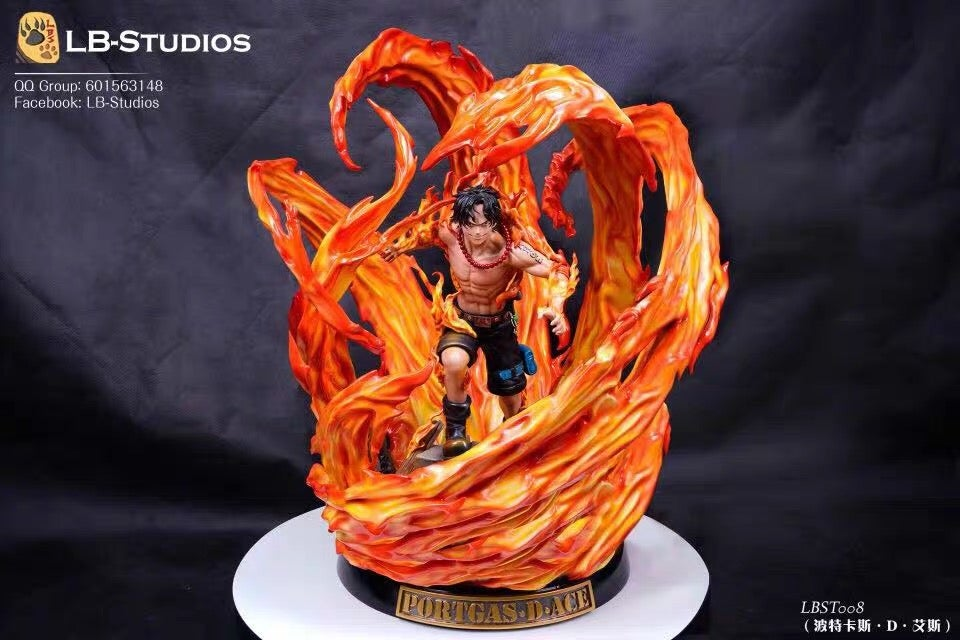 Image of [In-Stock]One Piece LBS Studio Portgas D. Ace Resin Statue