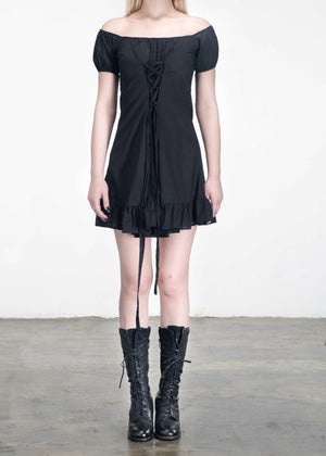 Image of Alice Strappy Dress Black