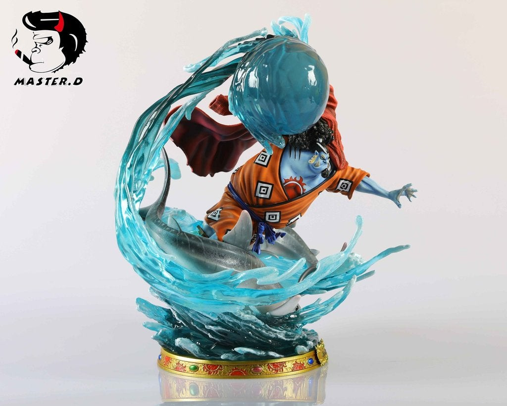 Image of One Piece Black Pearl & Master D Studio Jinbe Resin Statue