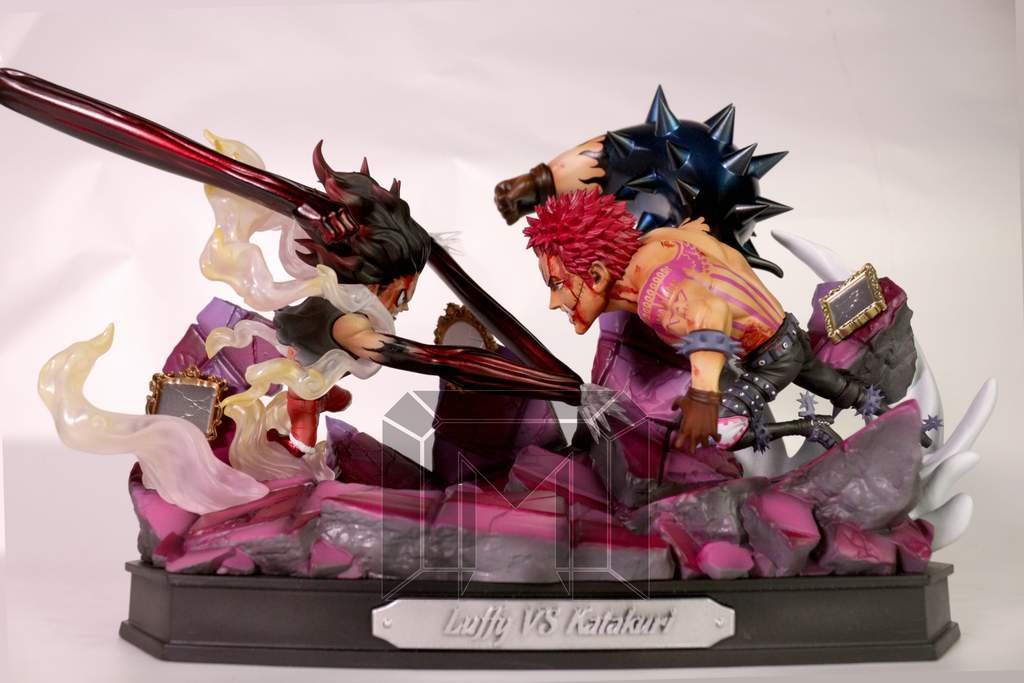 Image of One Piece Model Palace Studio Gear 4 Snakeman Luffy vs Charlotte Katakuri Resin Statue
