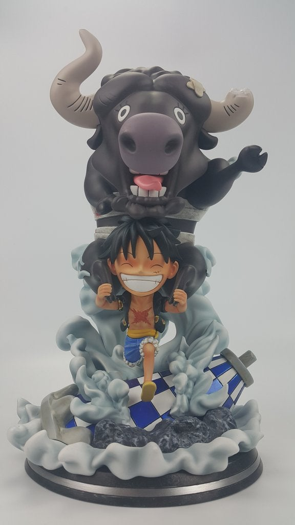 Image of One Piece Marz Studio Monkey D. Luffy SD Resin Statue