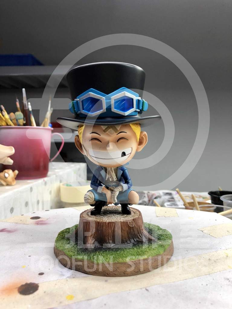 Image of One Piece TooFun Studio Bandaged Childhood Sabo SD Resin Statue