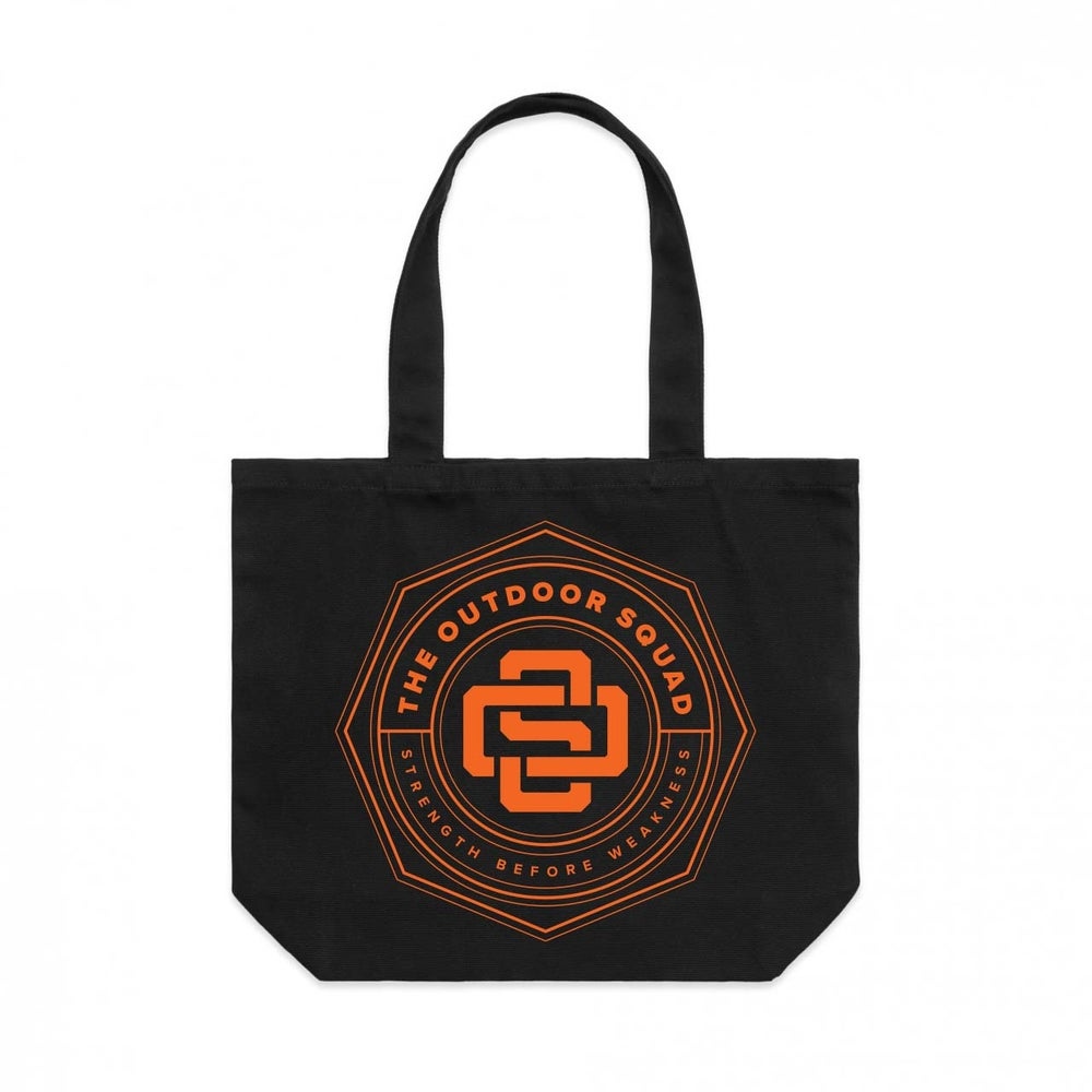 Image of Outdoor Squad Black Tote Bag