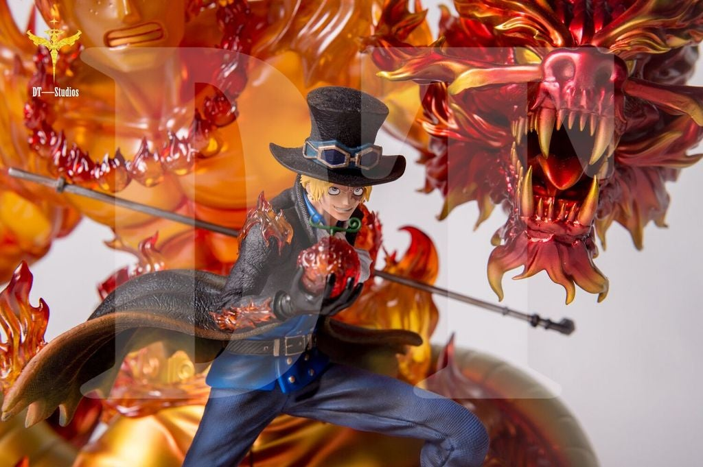 Image of One Piece DT Studio Mera Mera Fruit Sabo Resin Statue