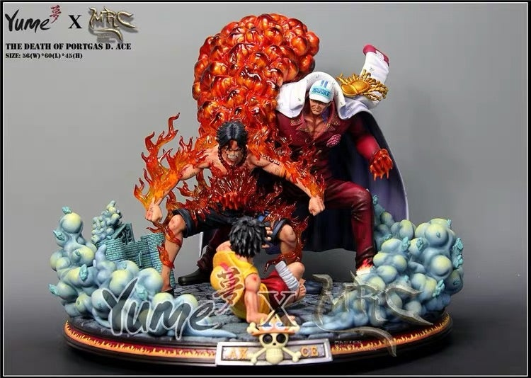 Image of One Piece Yume x MRC The Death of Ace Resin Statue