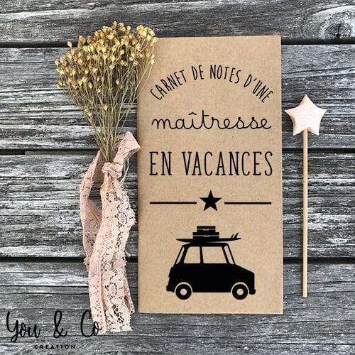 """Image of Carnet de notes """"maîtresse en vacances"""""""
