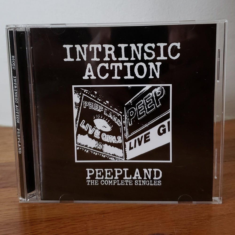 "Image of B!052 Intrinsic Action ""Peepland: The Complete Singles"" CD"
