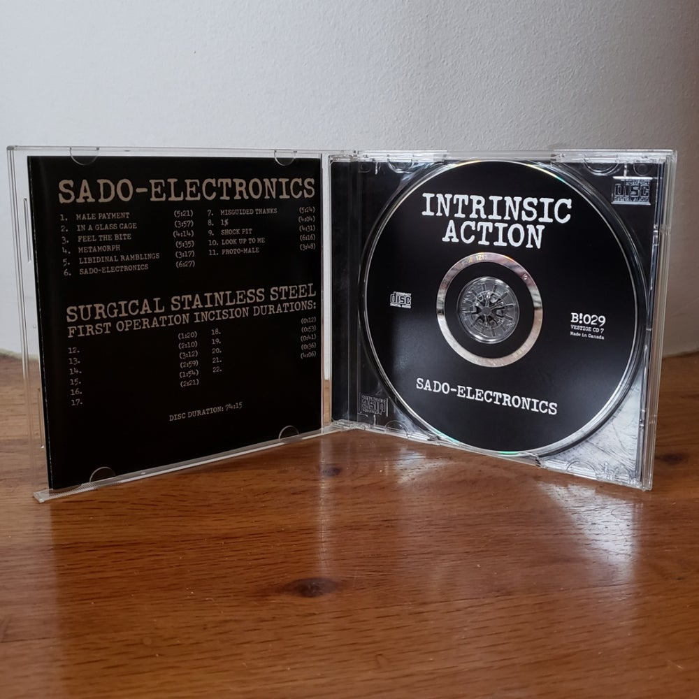 "Image of B!029 Intrinsic Action ""Sado-Electronics"" CD"