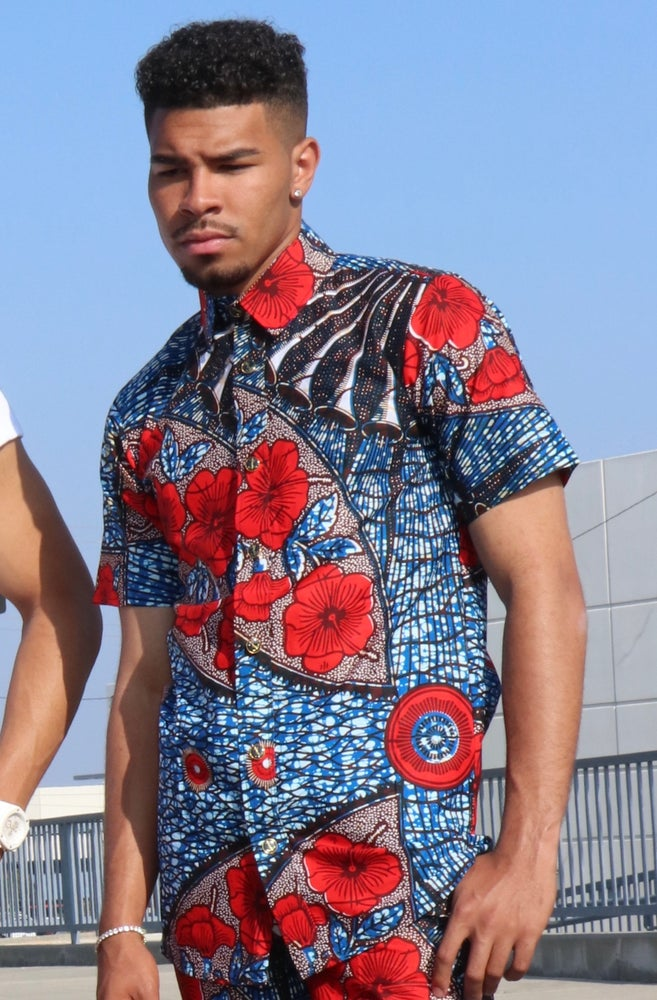 Image of The Ali shirt - red rose