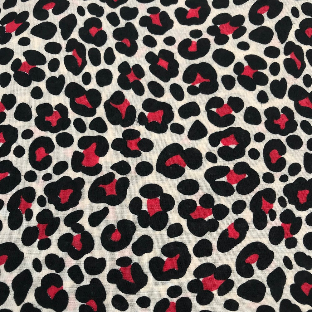 Image of Red Leopard Print Skirt & Bow set