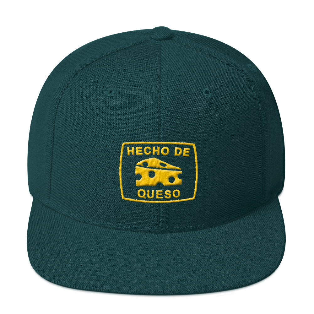 Image of HECHO DE QUESO SNAPBACK (GREEN & GOLD)