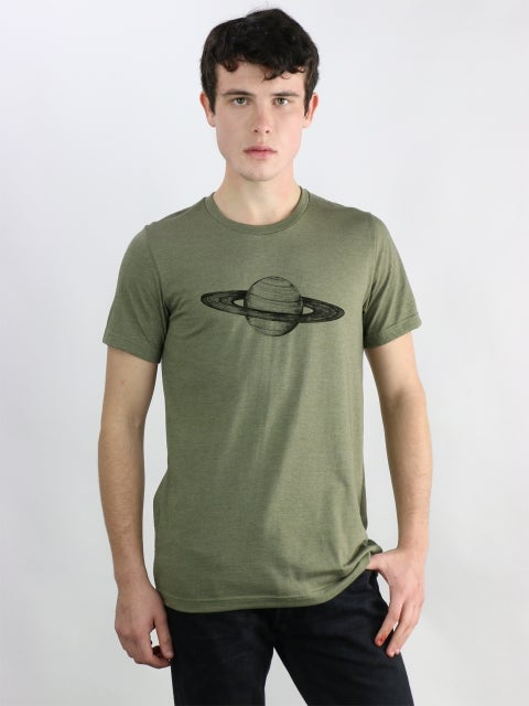 Image of Saturn Tee (men's) - army green