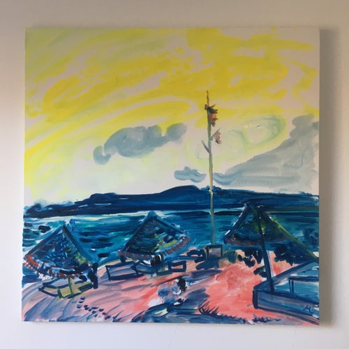 """Image of Surf Lodge V 30"""" x 30"""" painting"""