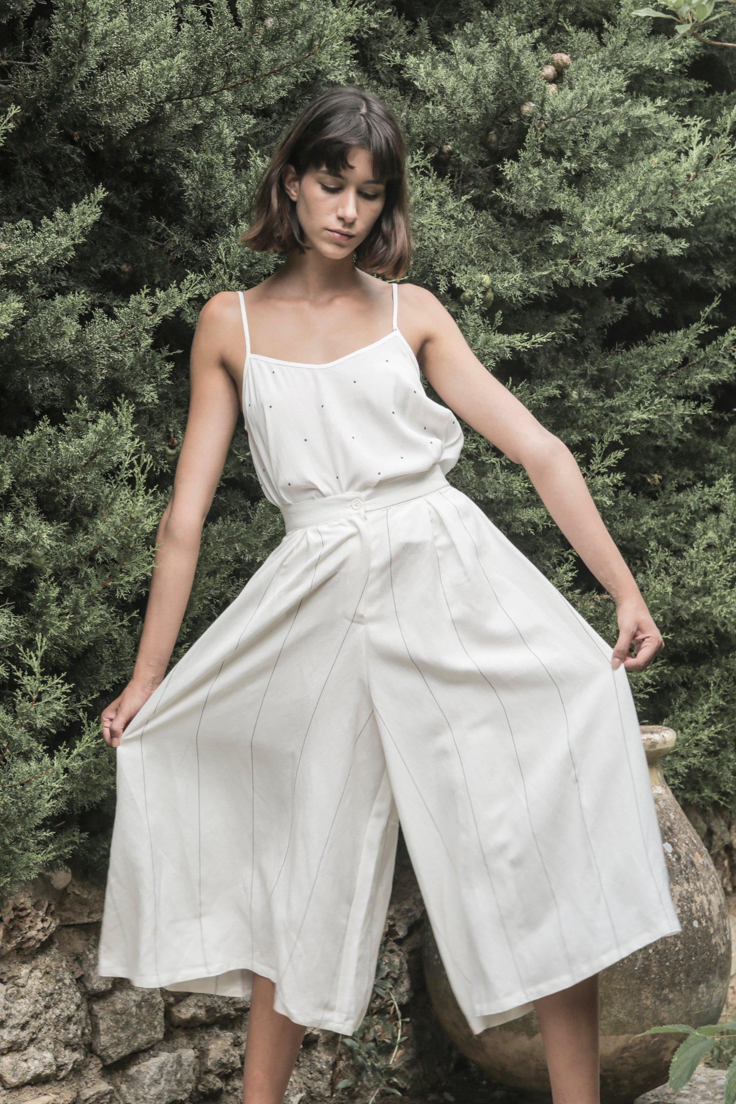 Image of Jupe culotte rayée SOPHIA 129€ -60%