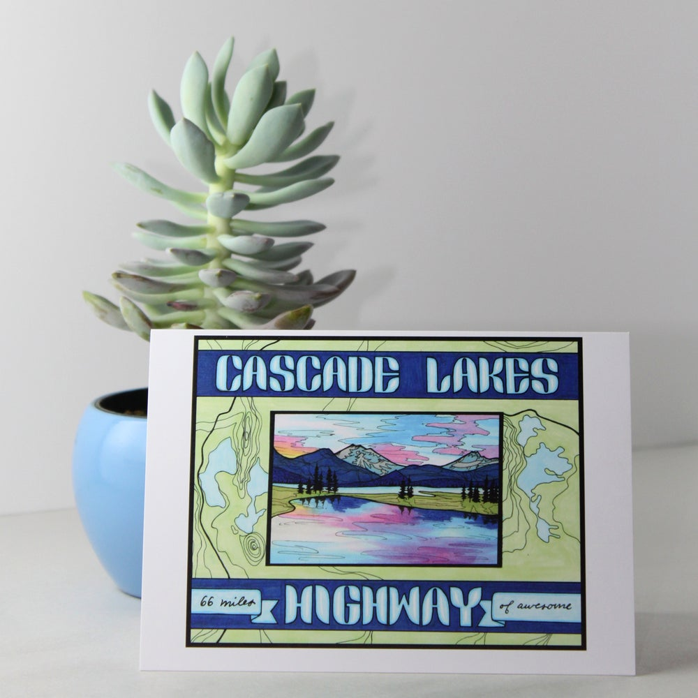 Image of Cascade Lakes Highway greeting card