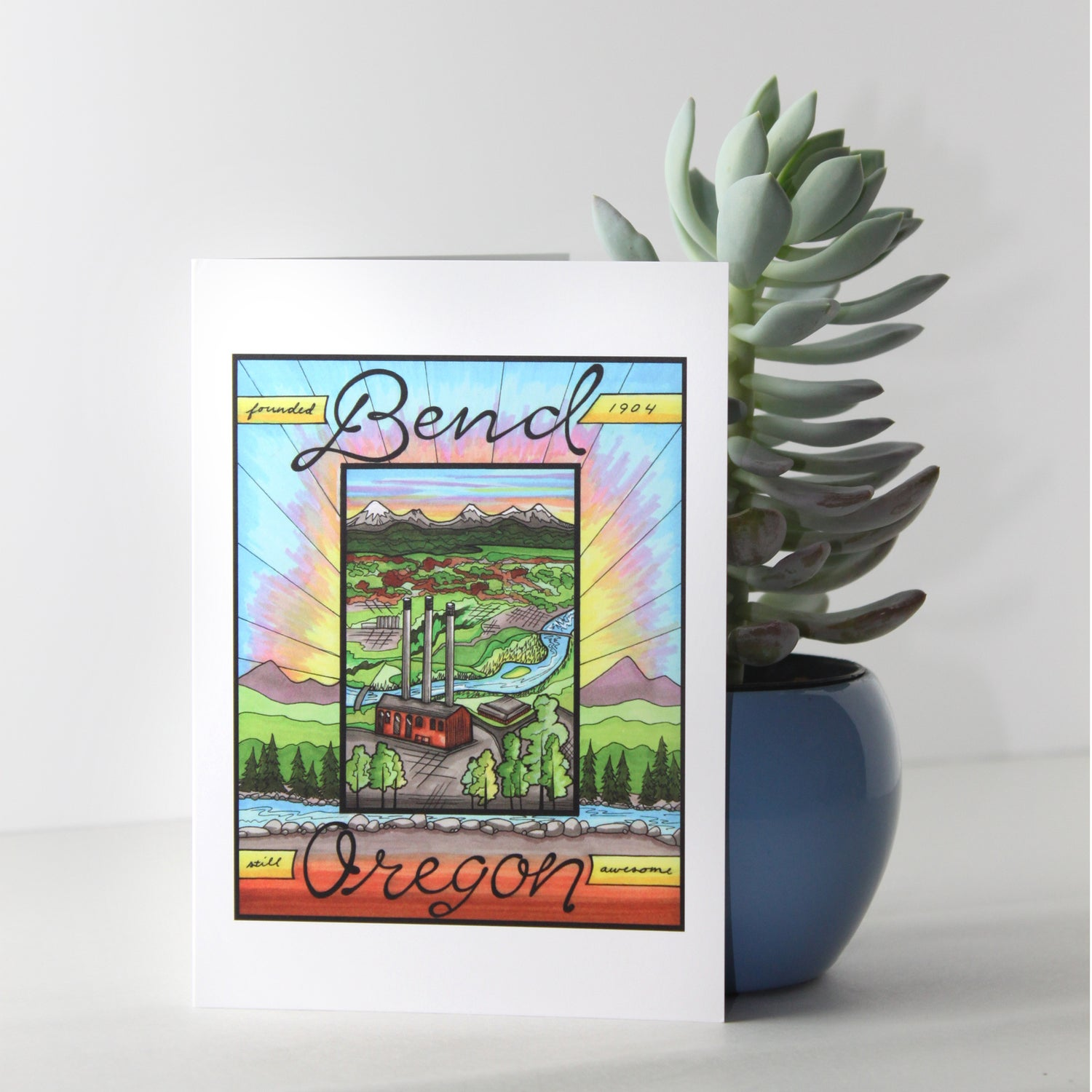 Image of Old Mill greeting card