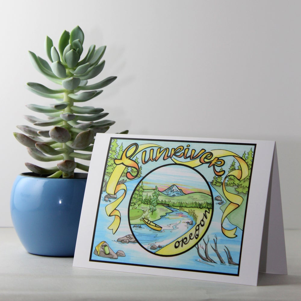 Image of Sunriver greeting card