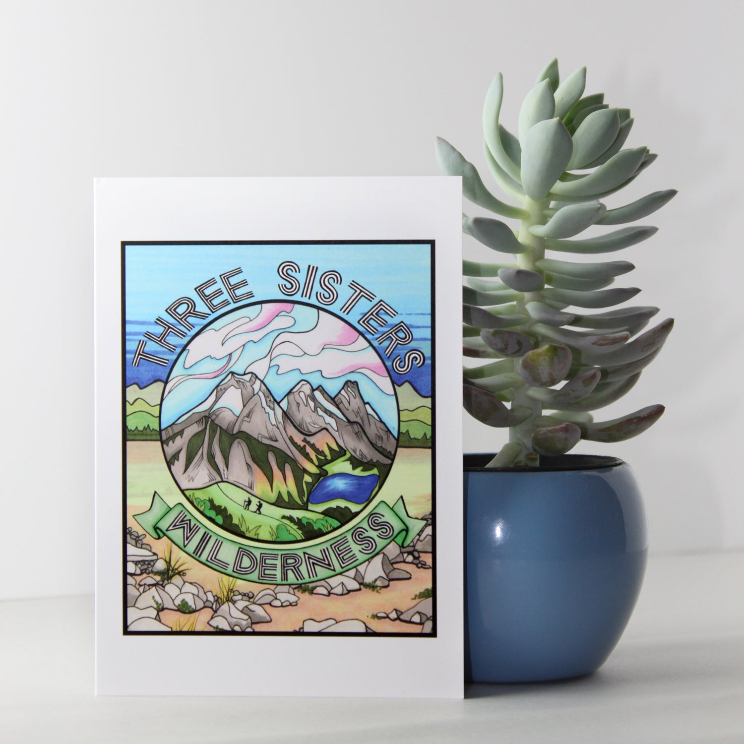 Image of Three Sisters Wilderness greeting card