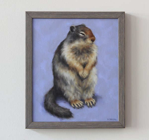"Image of ""Sleepy Ground Squirrel"" Original Oil Painting"
