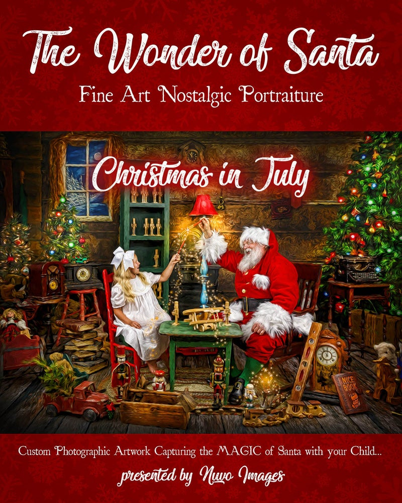 Image of Christmas in July Wonder of Santa Session Fee | July 20th, 2019