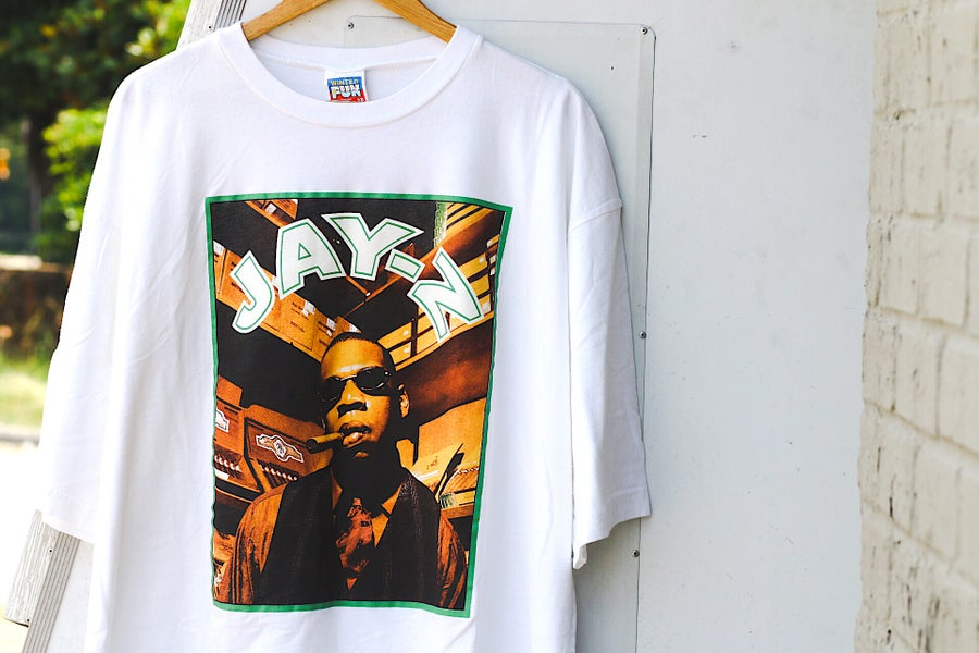 "Image of Rare 90's Vintage ""JAY Z"" Deadstock Promo Rap Tee"