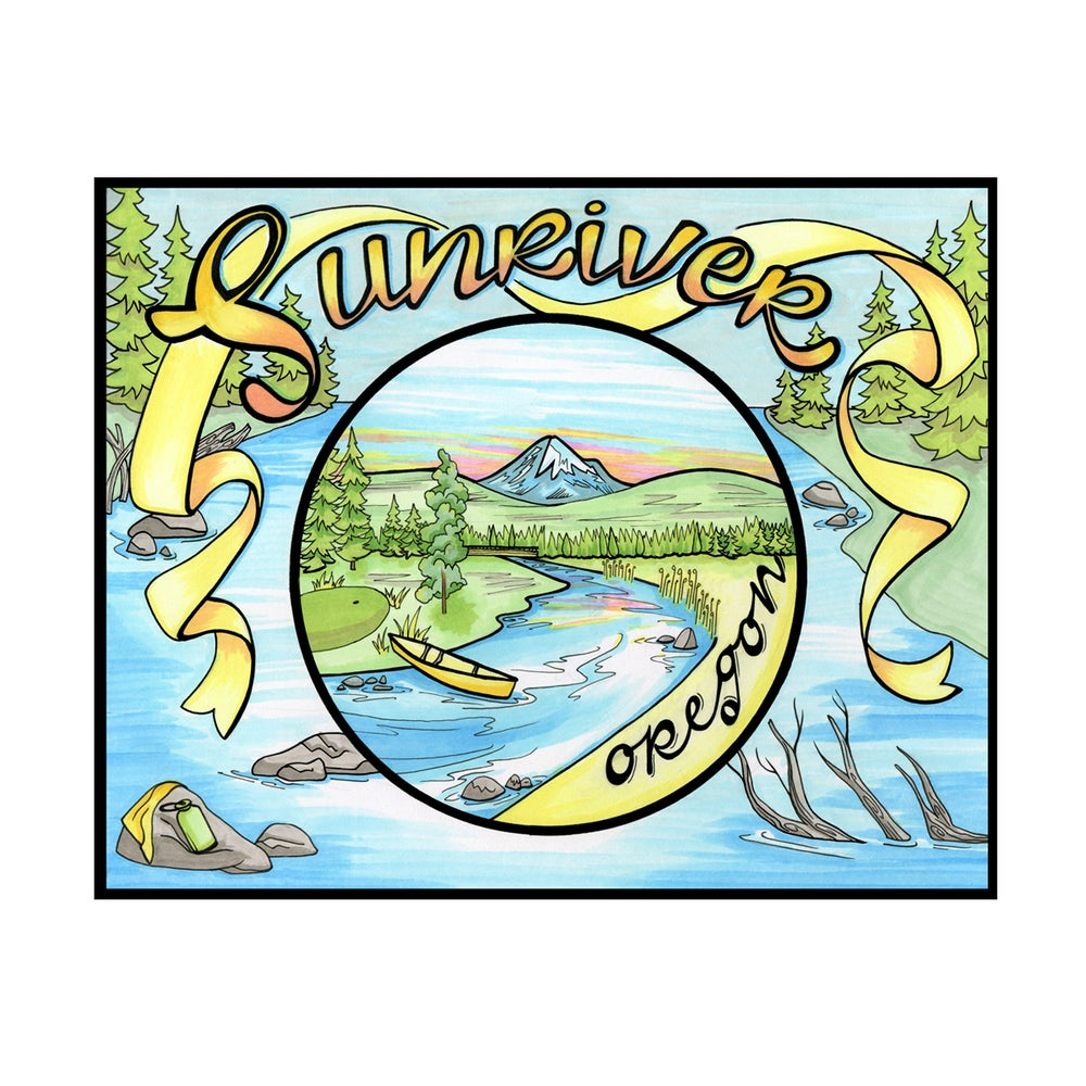 Image of Sunriver print