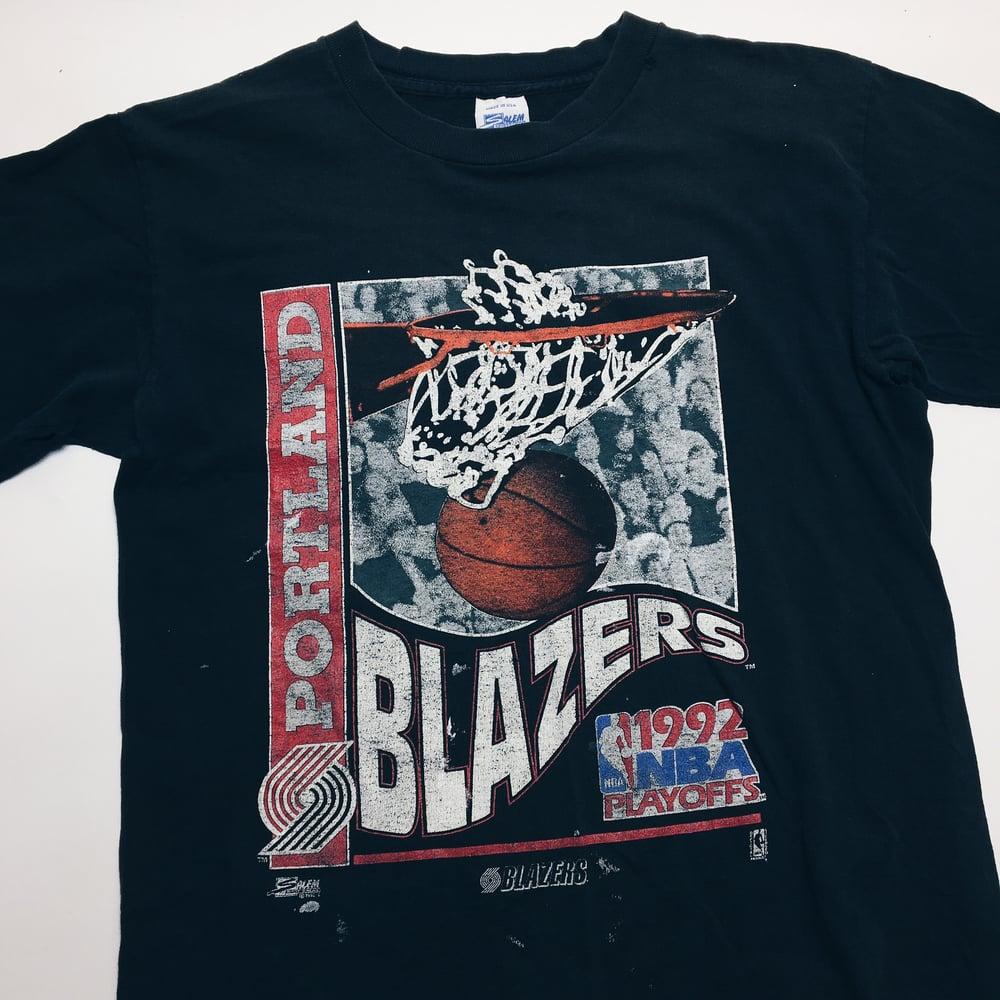 Image of Original 1992 Salem Sportswear Portland Trailblazers Tee.