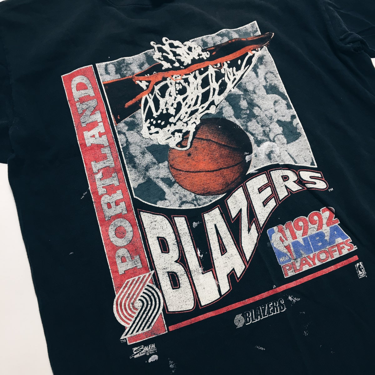 Image of Original 1992 Salem Sportswear Portland Trailblazers Tee.