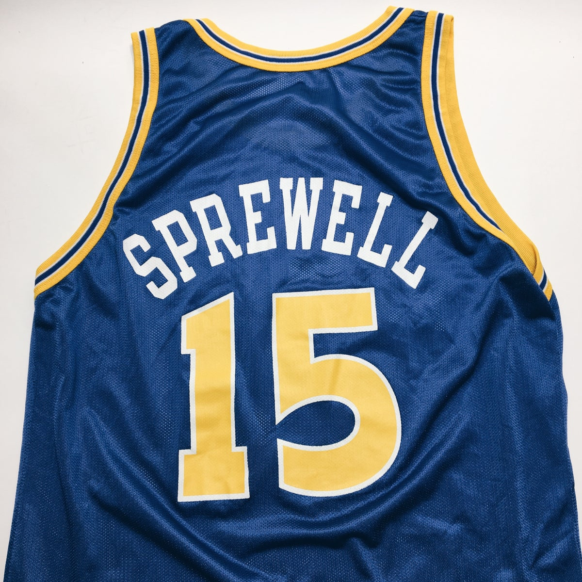 Image of Original 90's Champion Latrell Sprewell Warriors Jersey.