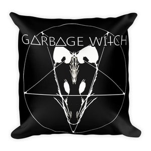 Garbage Witch Throw Pillow 18x18 inches