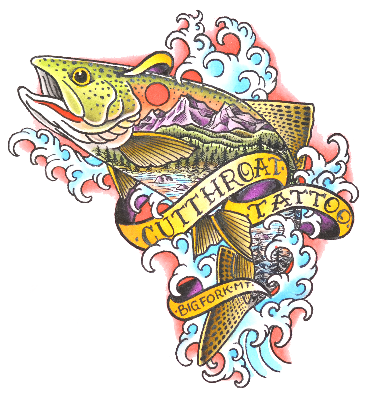 "Image of ""MOUNTAIN TROUT"" STICKER"