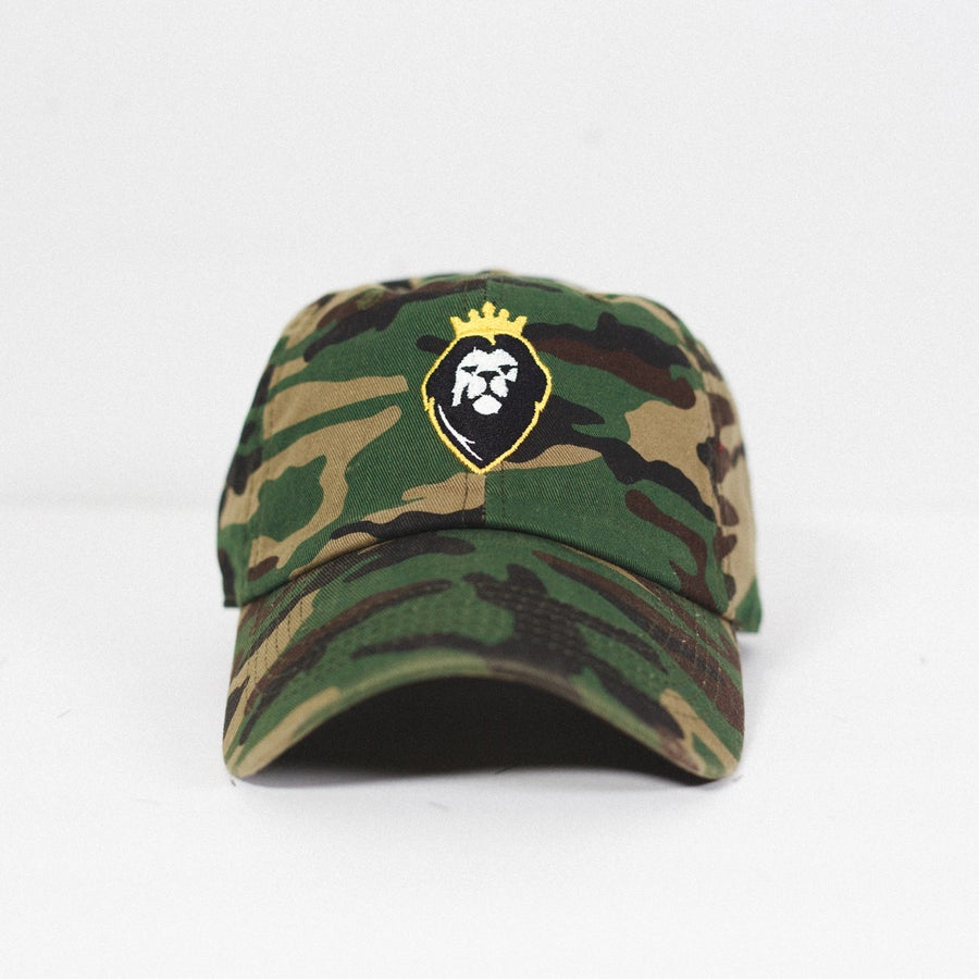 Image of Lion Soul Dad Hat (Camo)