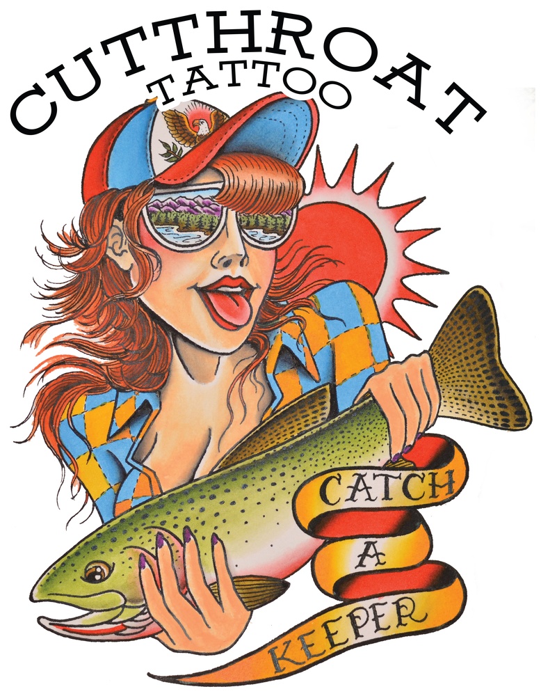 "Image of ""CATCH A KEEPER"" STICKER"