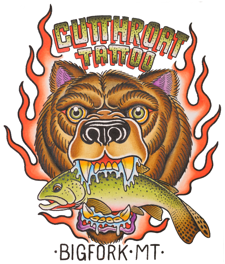 "Image of ""BEAR & TROUT"" STICKER"