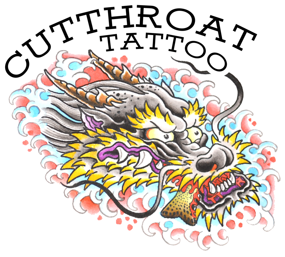 "Image of ""DRAGON & TROUT"" STICKER"
