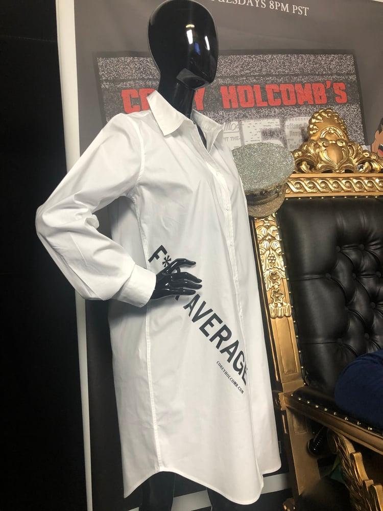 Image of F*ck Average Button Shirt dress