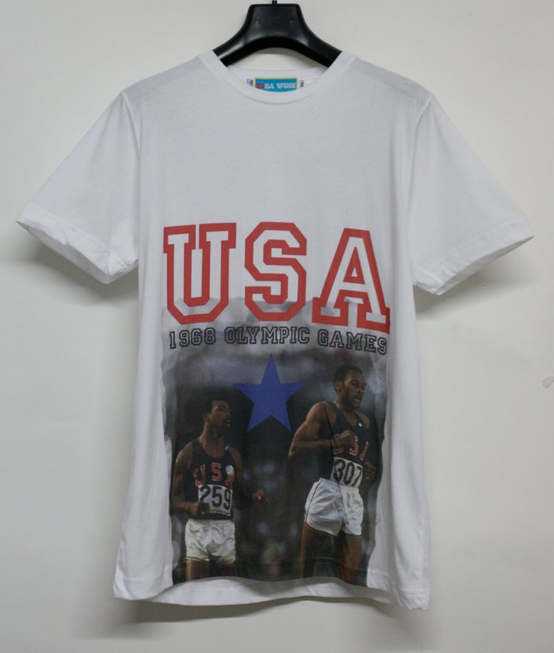 Image of 1968 Olympic Runners Tommie Smith & John Carlos Tee Shirt