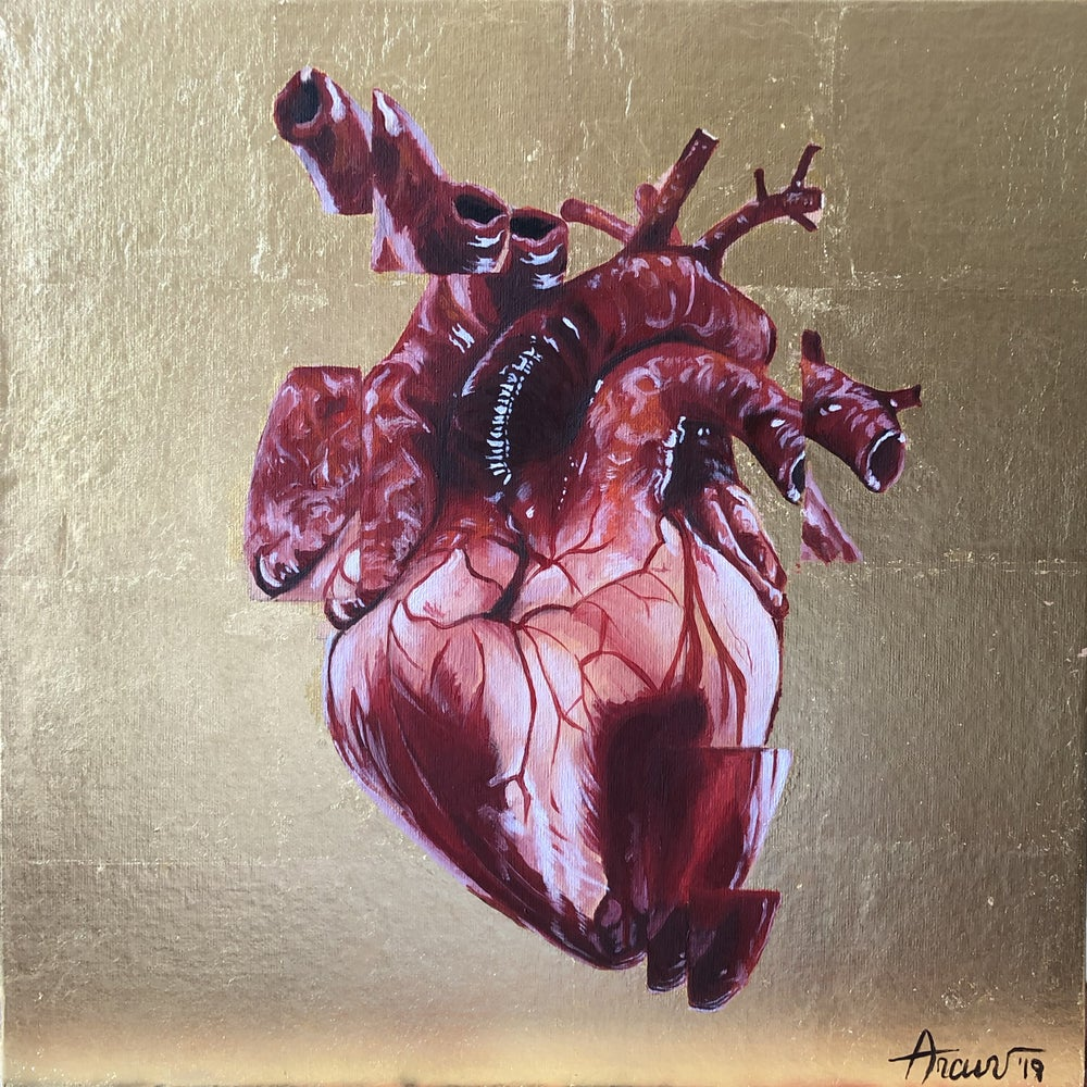 Image of Disassembled Heart 22kt Gold