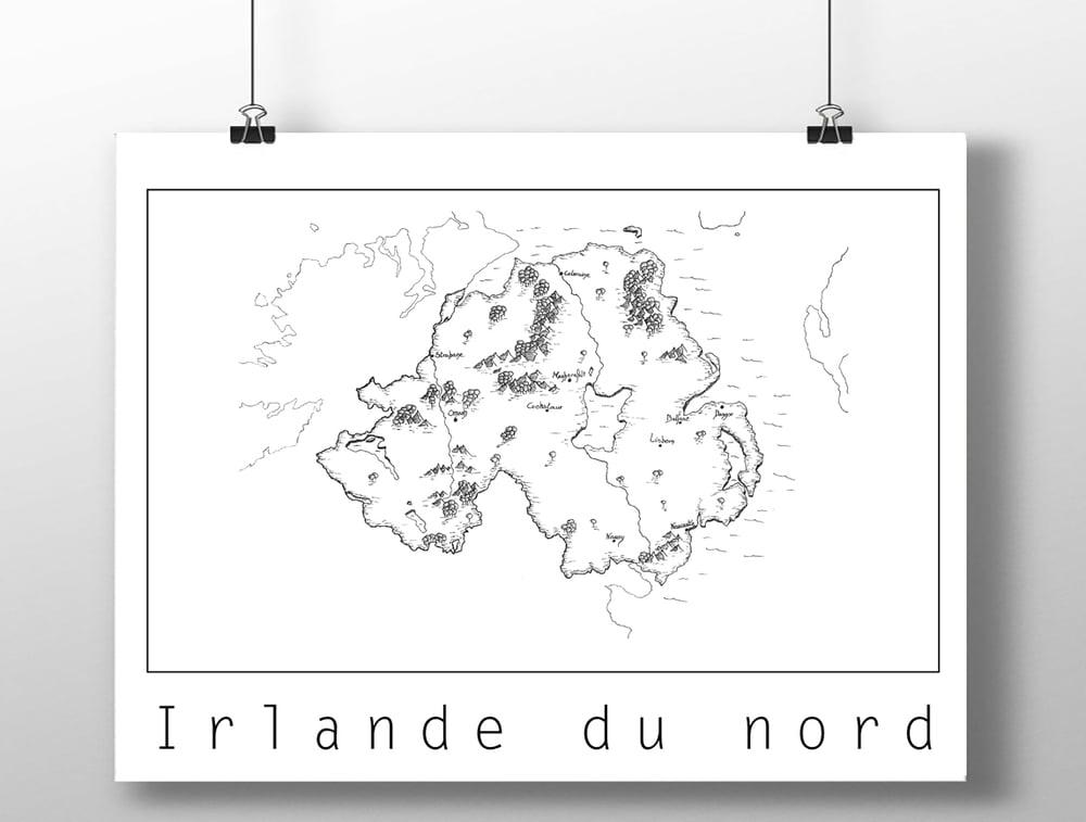 Image of Carte de l'Irlande du nord