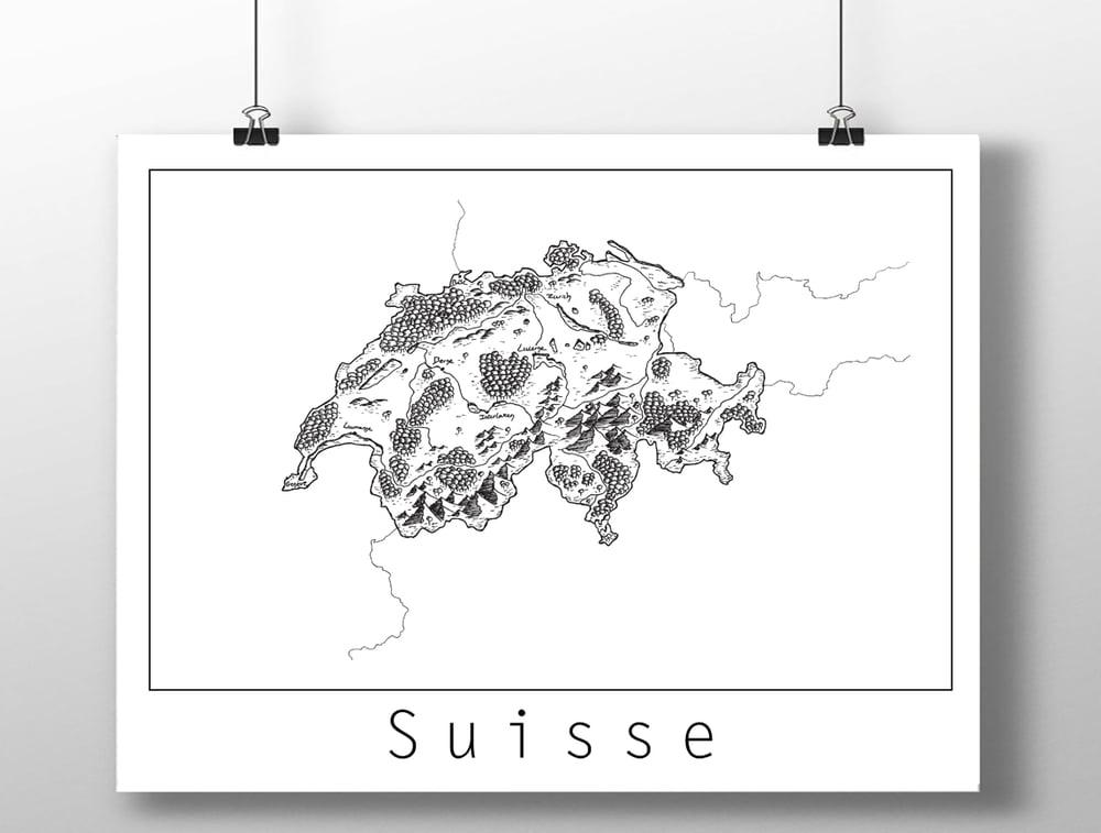 Image of Carte de la Suisse