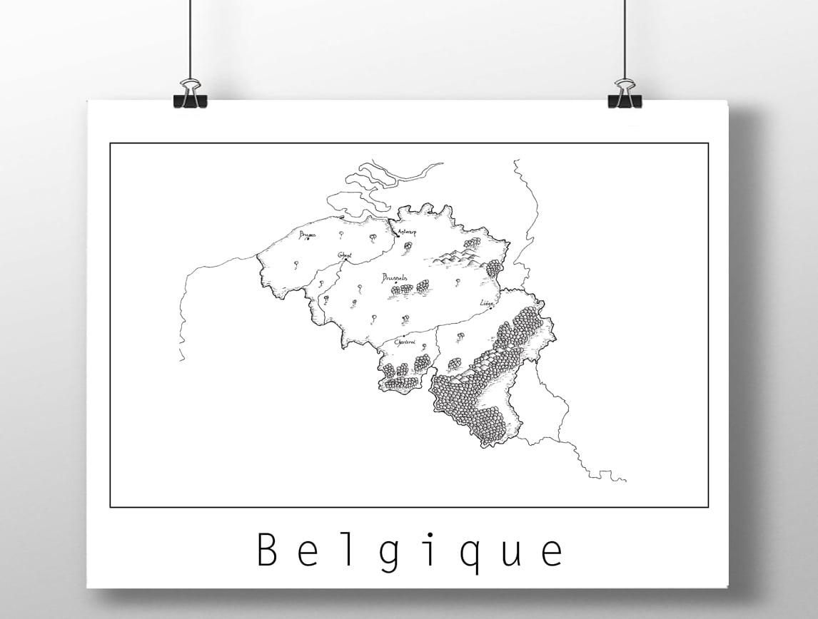 Image of Carte de la Belgique