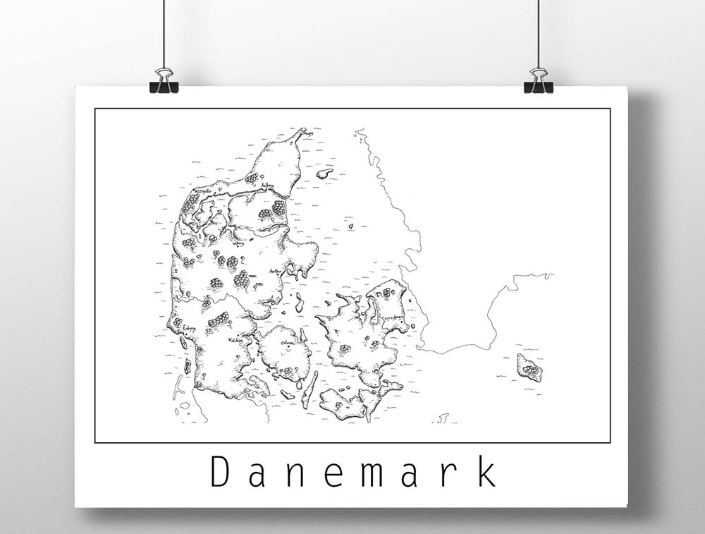 Image of Carte du Danemark