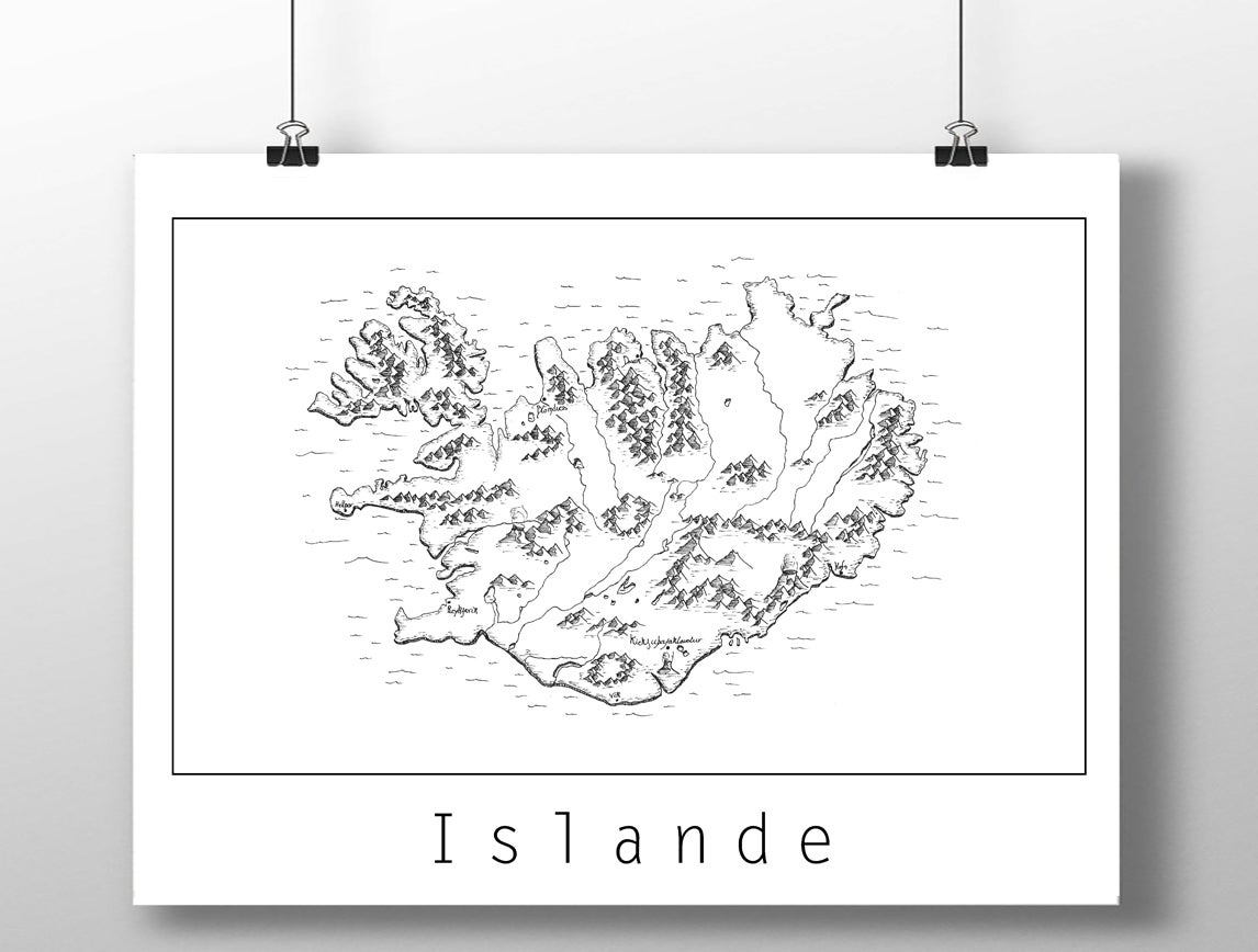 Image of Carte de L'Islande